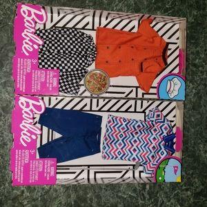 2 bnib Mattel Barbie Ken Clothing sets
